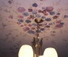 Handpainted flowers, ceiling mural
