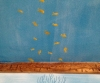 School of fish on underwater ceiling mural