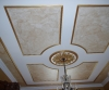 gold leaf molding, metallic glaze ceiling