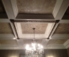 Decorative molding, painted and glazed to match chandelier