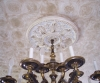 Medallion and anglycipltic wallpaper, glazed and antiqued