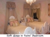 Elegant Twins' Bedroom -- walls, molding, furniture