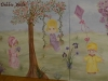 Triptych keepsake mural for triplet girls