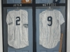 Yankees locker mural on closet doors